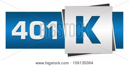 Retirement Investment 401k Blue Grey Horizontal