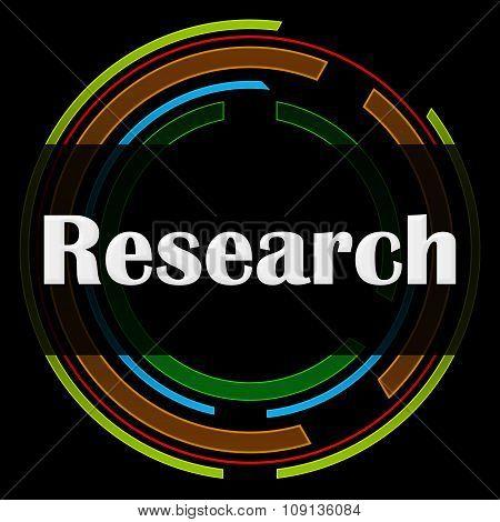 Research Technology Circle Black