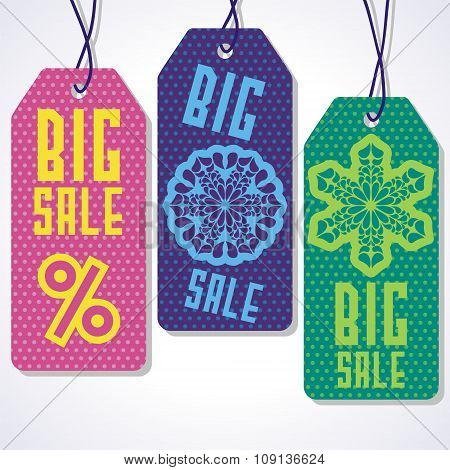 Sale tags design for price.