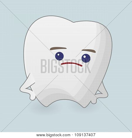Querulous tooth illustration