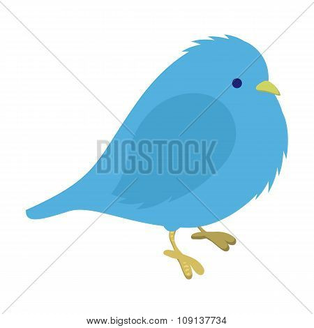 Freezing blue bird illustration