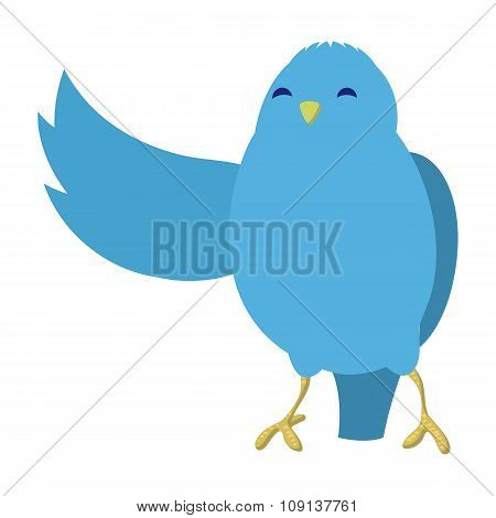 Talking blue bird illustration