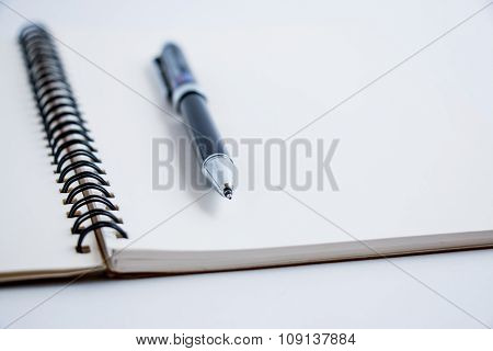 Put a pen on notebook,  beside success. business concept for