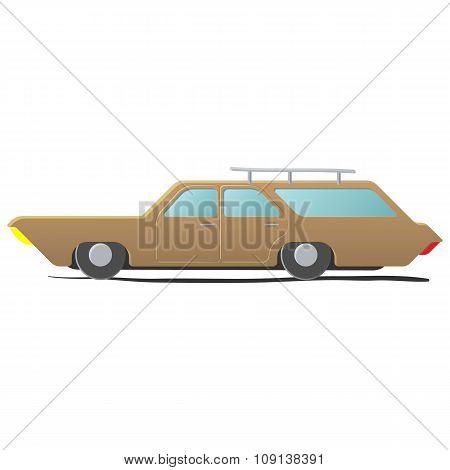 Station wagon - cartoon car