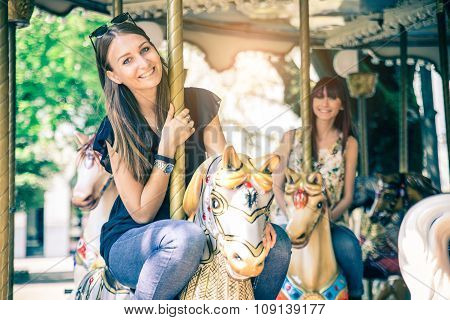 Women On A Merry-go-round