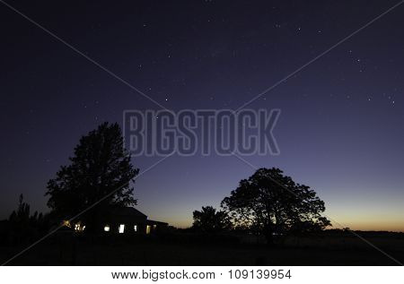 The farm at night