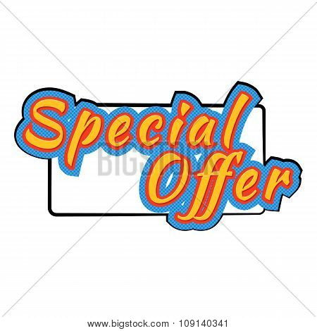 Special offer comics icon