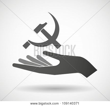 Isolated Vector Hand Giving  The Communist Symbol