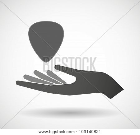 Isolated Vector Hand Giving A Plectrum