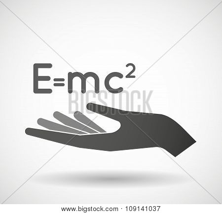 Isolated Vector Hand Giving The Theory Of Relativity Formula