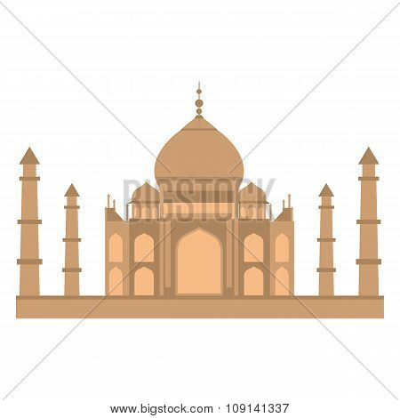Taj-mahal temple flat