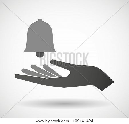 Isolated Vector Hand Giving A Bell