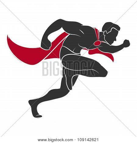 Superhero runs in the side