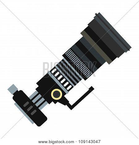 Professional camera black flat icon
