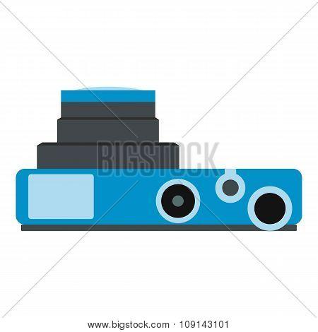 Blue camera flat icon