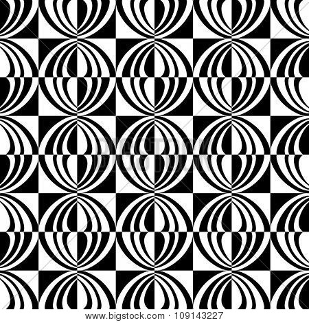 Seamless geometric checked texture. Vector art.