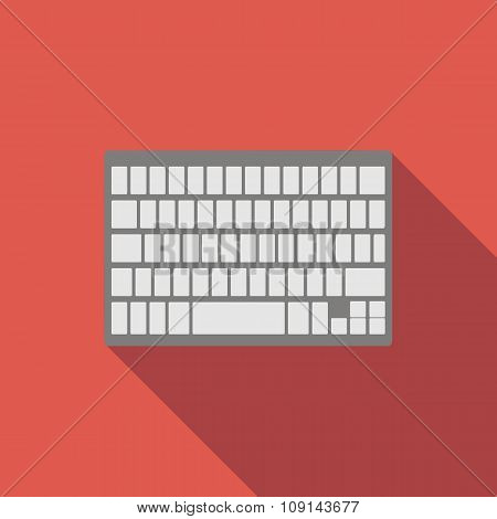 Modern keyboard flat icon