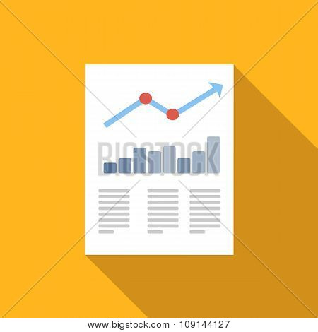 Document flat icon