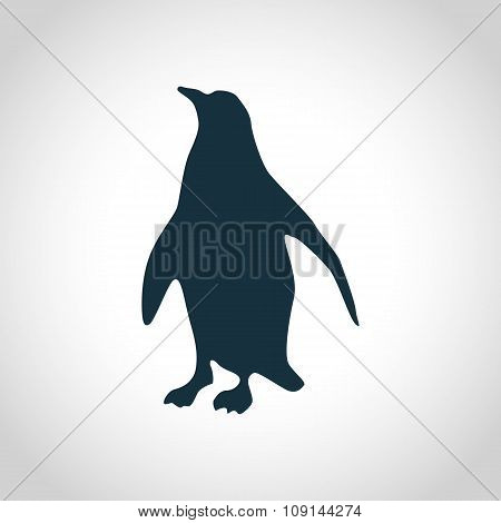 Penguin black silhouette