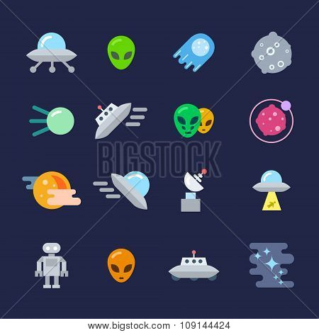 Alien Icons Set
