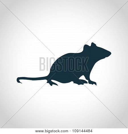 Mouse black silhouette