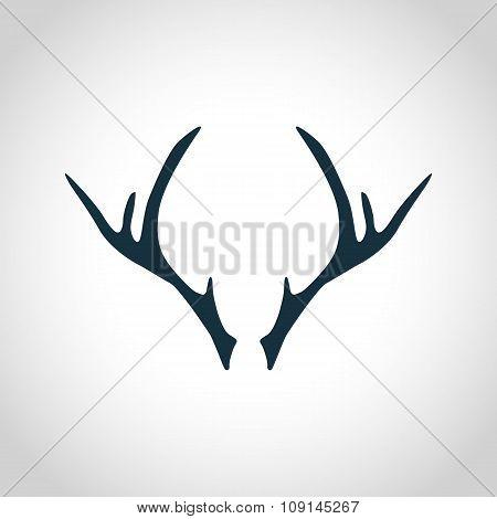 Deer antler silhouette