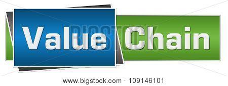 Value Chain Green Blue Horizontal