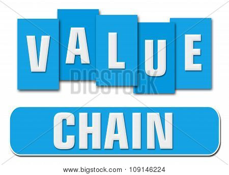 Value Chain Blue Stripes Square