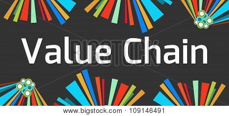 Value Chain Dark Colorful Elements