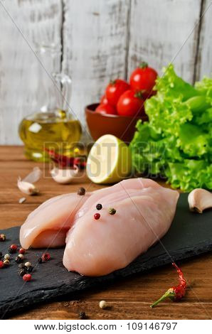 Chicken And Ingredients