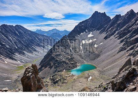 Mountain Lake In An Open Circus
