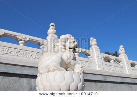 Marble Chinese dog lion