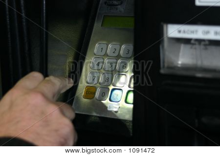Hand At Atm