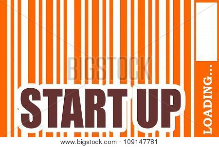 Start up word build in bar code
