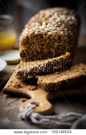 The Cake With Bran And Sunflower Seeds
