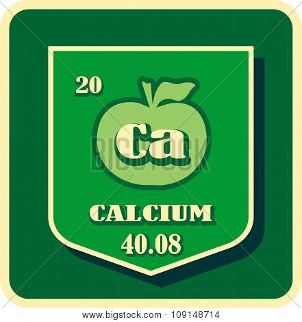 Nutrition facts apple calcium