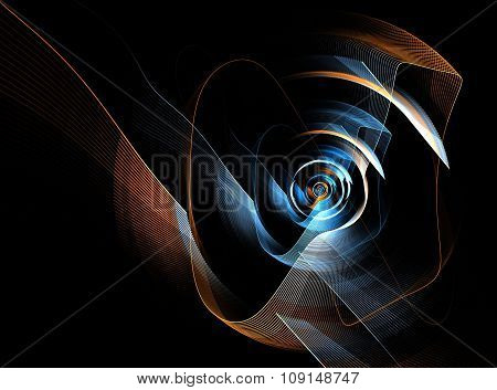 Transparent Abstract Fractal Circle Lines