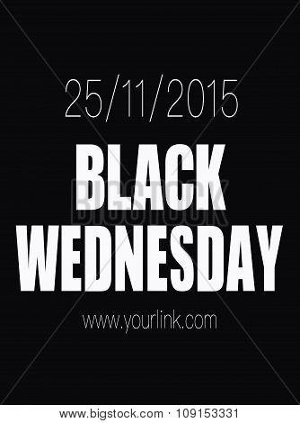 Black Wednesday Sale Poster. Black Friday Sale