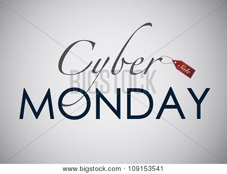 Cyber Monday Sale Isolated On Gray