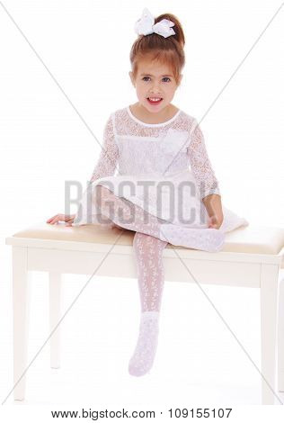 Girl sitting on the couch
