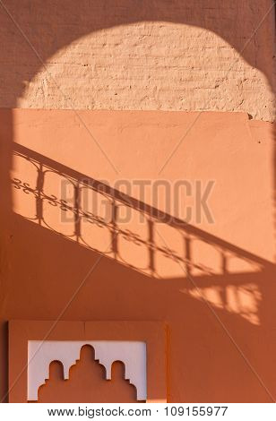 Shadow On The Wall In The Marrakech Medina