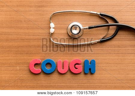 Cough Colorful Word