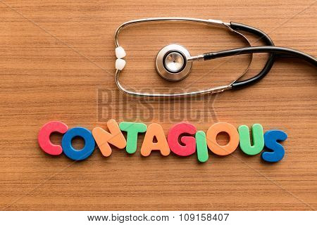 Contagious Colorful Word