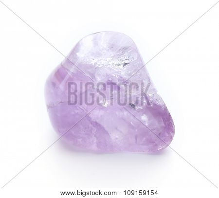 Rock crystal isolated on white background