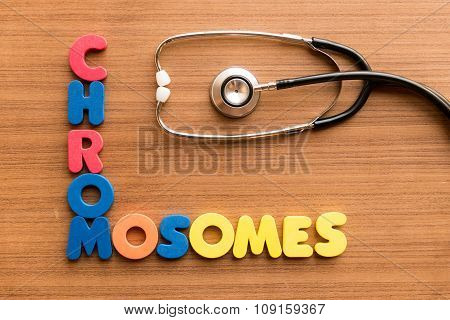 Chromosomes Colorful Word