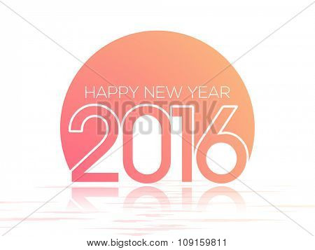 Glossy greeting card design for Happy New Year 2016 celebration.