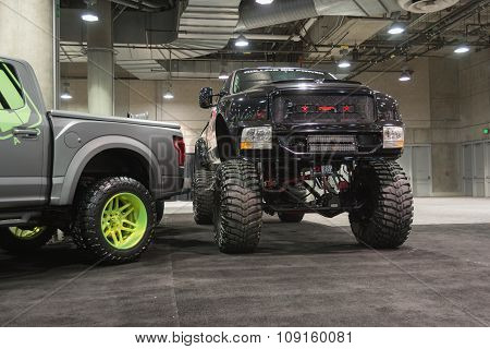 Lifted Truck On Display