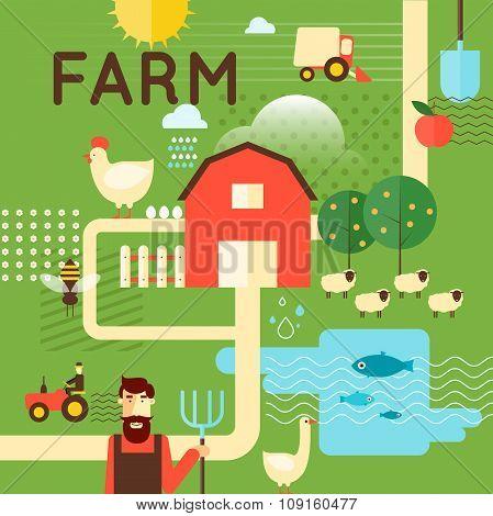 Farm poster concept.