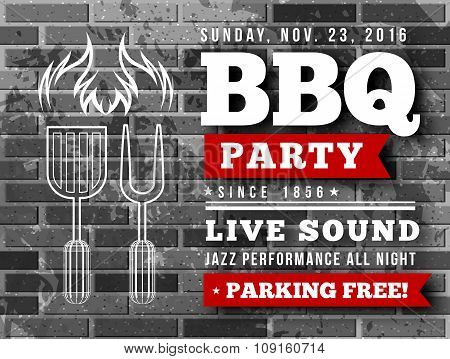 BBQ party vector illustration