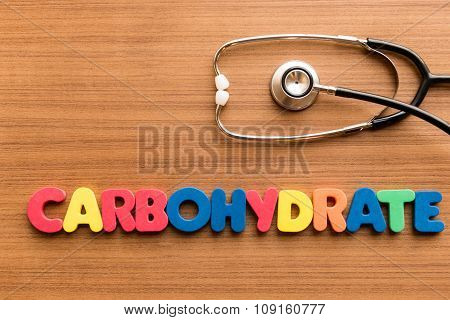Carbohydrate Colorful Word